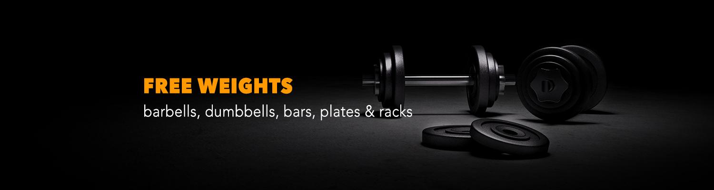 Free Weight Plates, Dummbells & Racks
